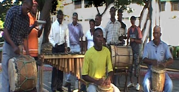 los musicos del Grupo Bambuco
