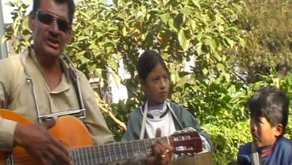 Ruben Dario is a blind singer, guitarist from Cali now living in Quito