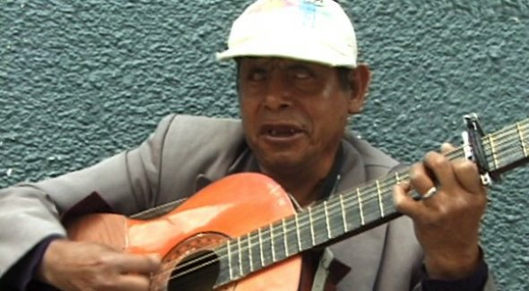 Segundo playing Ecuadorian folk music