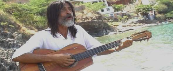 Alejandro sings the music of the Colombian coast