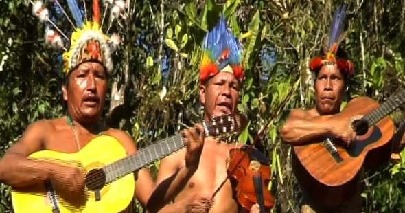Quichiua tribe Tucanes Amazonicos from San Mariano, Ecuador